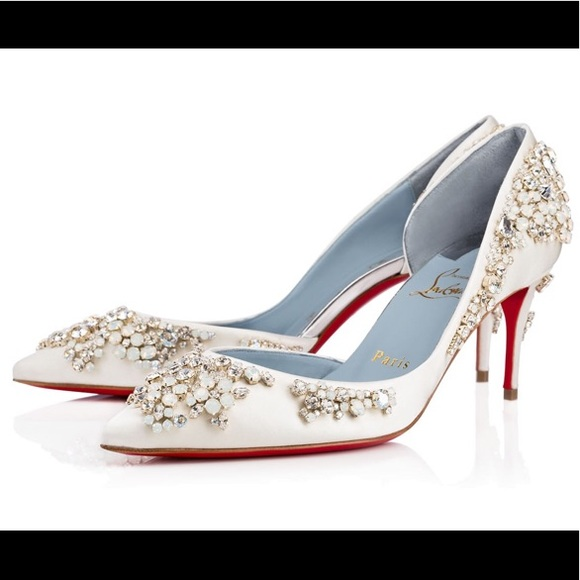 175a4be71a3 NWT! Christian Louboutin Bridal Heels. Boutique